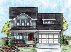 Two-Story House Plan with Choices - 40883DB | Country, Narrow Lot, 2nd Floor Master Suite, CAD Available, PDF | Architectural Designs