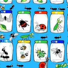 Just released and shipping January 2016 is this fun Garden Critters collection by @blankquiltingcorp! Be sure to punch holes in the jars!  #bugs #bug #ladybug #spider #garden #quilt #quilts #quilting #sew #sewing #craft #crafting #diy #fabric #crafts #patchwork #quilter #stitch #cotton #decor #homedecor #apparel #fashion #creativity #creative