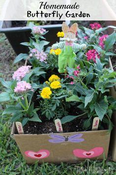 Homemade Cardboard Butterfly Garden Tutorial!