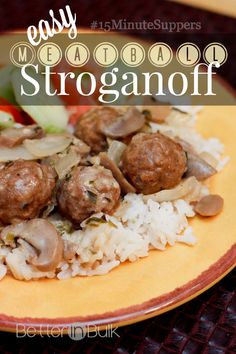 Easy meatball stroganoff recipe. Family-friendly dinner ready in just 15 minutes!