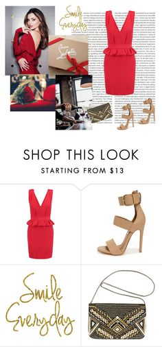 """""""Lady in Red"""" by lol5295 ❤ liked on Polyvore featuring Kerr®, Maje, Steve Madden and Avenue"""