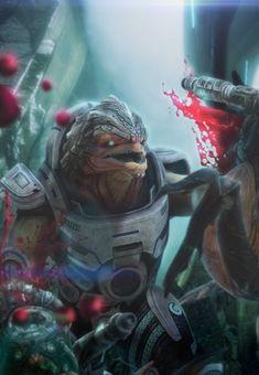 Mass Effect Characters byFlorian Guilbot - Grunt