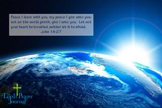 Dear Lord, We come together today and pray for peace, Your Peace, throughout this earth. May your hand be upon us all, joining us together in Your name. Let us show our brother and sister Your love that You have already shared with us. Amen. TheLordsPrayerJournal.com