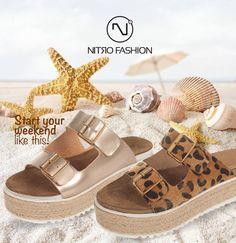 #handmade #leather #flatforms #madeingreece #nitrofashion Handmade Leather, Sandals, Summer, Fashion, Moda, Shoes Sandals, Summer Time, Fashion Styles, Fasion