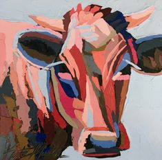 Kate Mullin Williford Art features oil paintings by the Charleston Artist, Kate. Her works has a graphic painterly feel with thick paint texture. Cow Art, Encaustic Painting, Cool Paintings, Texture Painting, Wood Paneling, Painting Inspiration, Arts And Crafts, Watercolor, Animals