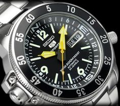 Seiko Men's Automatic Diver's is part of Watches for men - Seiko Mens Automatic Divers Watch In Stock, Free Next Day Delivery, Our Price Buy Online Now Big Watches, Best Watches For Men, Seiko Watches, Cool Watches, Nixon Watches, Wrist Watches, Luxury Watches, Popular Watches, Seiko 5 Sports Automatic