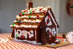 7 ways to make a Gingerbread house: {2 graham cracker houses, gingerbread house from scratch, an adorable tiny gingerbread house, kit houses, and a matzo house}, a HUGE list of candy decorating ideas, plus a recipe for my favorite royal icing.