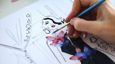Kerrie Hess, Illustrators On Instagram, Harrods, Behind The Scenes, Aquazzura, Drawings, Pastels, Illustration, Ice Cream