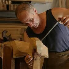 forcola veneziana - maestro al lavoro