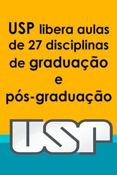 USP libera aulas de 27 disciplinas de graduação e pós-graduação Study Organization, Business Networking, Study Notes, Study Motivation, Study Tips, Pay Attention, Self Improvement, Online Courses, Digital Marketing