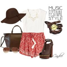 Music festival style by candiceleanos on Polyvore featuring polyvore fashion style J.Crew Natalie Martin Tom Ford Adrienne Landau Panacea Eloquii