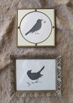 Guest Bedroom Art?  Easy DIY.  New obsession over birds now that our back yard is like a bird sanctuary.