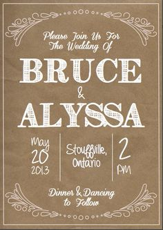 Rustic Wedding Invitation by ThePaperGalaxy on Etsy