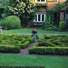 wow someone has a gardener Outdoor Life, Outdoor Spaces, Outdoor Decor, Formal Gardens, Outdoor Gardens, Boxwood Garden, Buxus, Topiary, Garden Styles