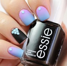 the nail polish challenge: Cool Gradient with Blue Neon Studs Pastel Nails, Colorful Nails, Art Addiction, Dream Nails, Us Nails, Beautiful Nail Art, Creative Nails, Holiday Nails, Pretty Nails