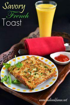 Savory French Toast Recipe | French Toast Recipe | Easy Breakfast Recipes ~ Indian Khana