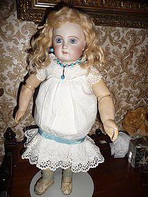 Beautiful and detailed white pique doll dress (item #1271942)  #dollshopsunited