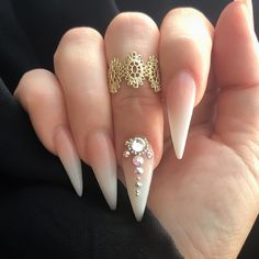 Acrylic Nails Stiletto, Best Acrylic Nails, Gel Nails, French Stiletto Nails, Summer Stiletto Nails, Coffin Nails Ombre, Cute Acrylic Nail Designs, Stiletto Nail Designs, Beautiful Nail Designs