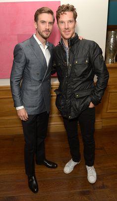 Benedict Cumberbatch Supports Dan Stevens at 'The Guest' Screening, Soho Hotel, London, September British Men, British Actors, Bae, Dan Stevens, Look Man, Benedict Cumberbatch Sherlock, Winter Fashion Casual, Marvel, Oui Oui