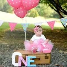 Hot Pink Chevron--Baby Girl 1st Birthday Tutu Set--Party Outfit-3D Cupcake--Personalized on Etsy, $58.00