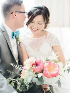 Photography : Ether & Smith Read More on SMP: http://www.stylemepretty.com/2016/10/01/colorful-smogshoppe-wedding-in-california/  #kellyzhang #makeup #hair #wedding #bride #bridal #smogshoppe #featured #smp #stylemepretty #etherandsmith
