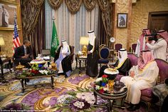 SAUDI ARABIA: Obama meets with King Abdullah bin Abdulaziz Al Saud of the Kingdom of Saudi...