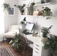Ideas For Home Office White Desk Workspace Inspiration Cozy Home Office, Home Office Space, Home Office Design, Home Office Decor, Home Decor, Office Ideas, Home Office Bedroom, Office Inspo, Workspace Design