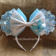 Cinderella Mickey ears, Cinderella Minnie ears, Cinderella Disney ears, Cinderella ears by PixieDustForDays on Etsy https://www.etsy.com/listing/234112322/cinderella-mickey-ears-cinderella-minnie