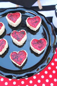 Heart Rice Krispies from a Pirate Themed Valentine Party via Kara's Party Ideas KarasPartyIdeas.com (24)