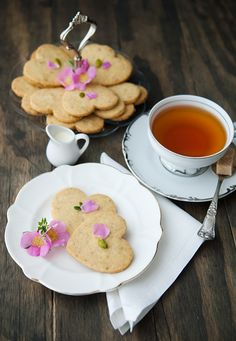pistachio rose shortbread cookies recipe | use real butter ~ uses confectioners sugar and granulated sugar