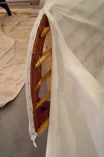 Sarum Skin-boat How-to: Skinning the boats Canoes, Kayaks, Small Sailboats, Kayaking Gear, Wooden Boat Plans, Wood Boats, Canoe And Kayak, Boat Design, Small Boats