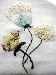Items similar to Rustic Freehand Embroidery Needlework, ready for applique on Etsy