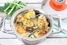 Baked Haddock and eggs - an easy one-pot wonder Crab Meat Recipes, Egg Recipes, Baby Food Recipes, Food Network Recipes, Cooking Recipes, Recipies, Fish Dishes, Seafood Dishes, Main Dishes