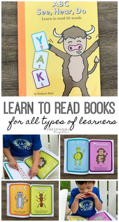 Teach kids to learn to read with this brilliant series of books to teach reading that teaches children through their senses. ABC See Hear Do Preschool Writing, Preschool Alphabet, Reading Activities, Preschool Phonics, Preschool Teachers, Preschool Education, Preschool Learning, Preschool Ideas