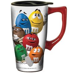 New M M's Characters 16 Ounce Ceramic Travel Mug with Gripper Bottom and Handle… Cute Coffee Mugs, Cool Mugs, Tea Mugs, Copo Starbucks, Coffee Cozy Pattern, M&m Characters, M Wallpaper, Disney Mugs, Favorite Candy