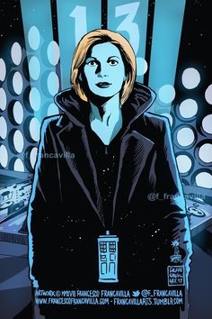 YES! The Thirteenth Doctor is here!!! Well done, @DoctorWho_BBCA @BBC @bbcdoctorwho! Francesco Francavilla, 13th Doctor, Jodie Whittaker