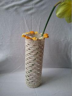 Crochet Vase Cottage Chic par VH22DESIGNS sur Etsy