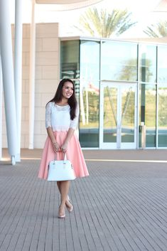 StylishPetite.com | Peach and Cropped Lace Tee (plus some sales and reviews)