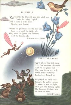 From 1949 edition Childcraft books. I remember this artwork from my childhood! Nursery Rhymes Poems, Fairy Quotes, Pomes, Fairy Pictures, Pretty Pictures, Kids Poems, Flower Fairies, Fairy Art, Children's Book Illustration
