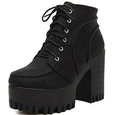 Women's Shoes Fashion Boots Chunky Heel Ankle Boots – USD $ 34.99