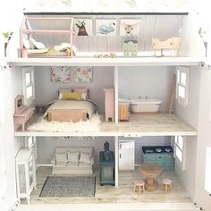 "1,812 gilla-markeringar, 16 kommentarer - Miniature Co. (@miniature_co) på Instagram: ""Some gorgeous dollhouse inspiration for your Sunday from the very talented @good.golly.holly …"""