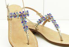 tres chic....... Dea Sandals Capri handmade jewel sandals capri positano www.deasandals.com