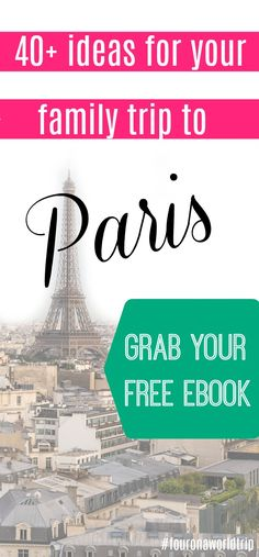 a guide to visit #paris with your #kids and make it the best #familyvacation ever! Download my #free ebook and get top insider tips and advice from a local mom - me :) Visit top sights on Paris tailored for kids, visit Louvre, take a cycling tour, visit the catacombs and find the best tours and activities for your children.