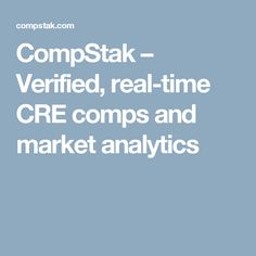 CompStak – Verified, real-time CRE comps and market analytics
