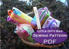 PDF sewing pattern - diy quilted cosmetic case make up bag pencil case ditty bag :o)