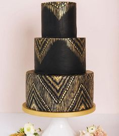 What cool ideas. Love this black cake, and the peacock cake.