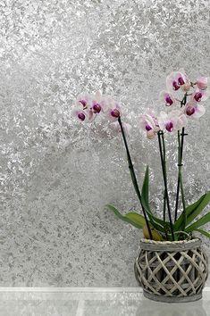 Arthouse Orient Forest Anthracite Or Rose Métallique Papier Peint Texturé Vinyle
