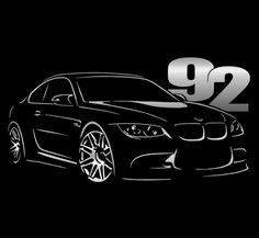BMW E92 T Shirt M3 330 325 335 NEW Graphic Design 4 Colors + Long Sleeve S - 5XL #SOLS #BasicTee