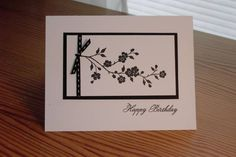 Black and White Birthday by LateBlossom - Cards and Paper Crafts at Splitcoaststampers