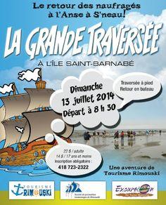 La Grande Traversée à l'île Saint-Barnabé est le 13 juillet!